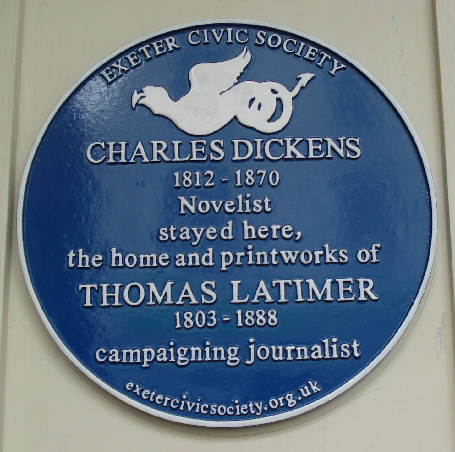 Charles Dickens and Thomas Latimer