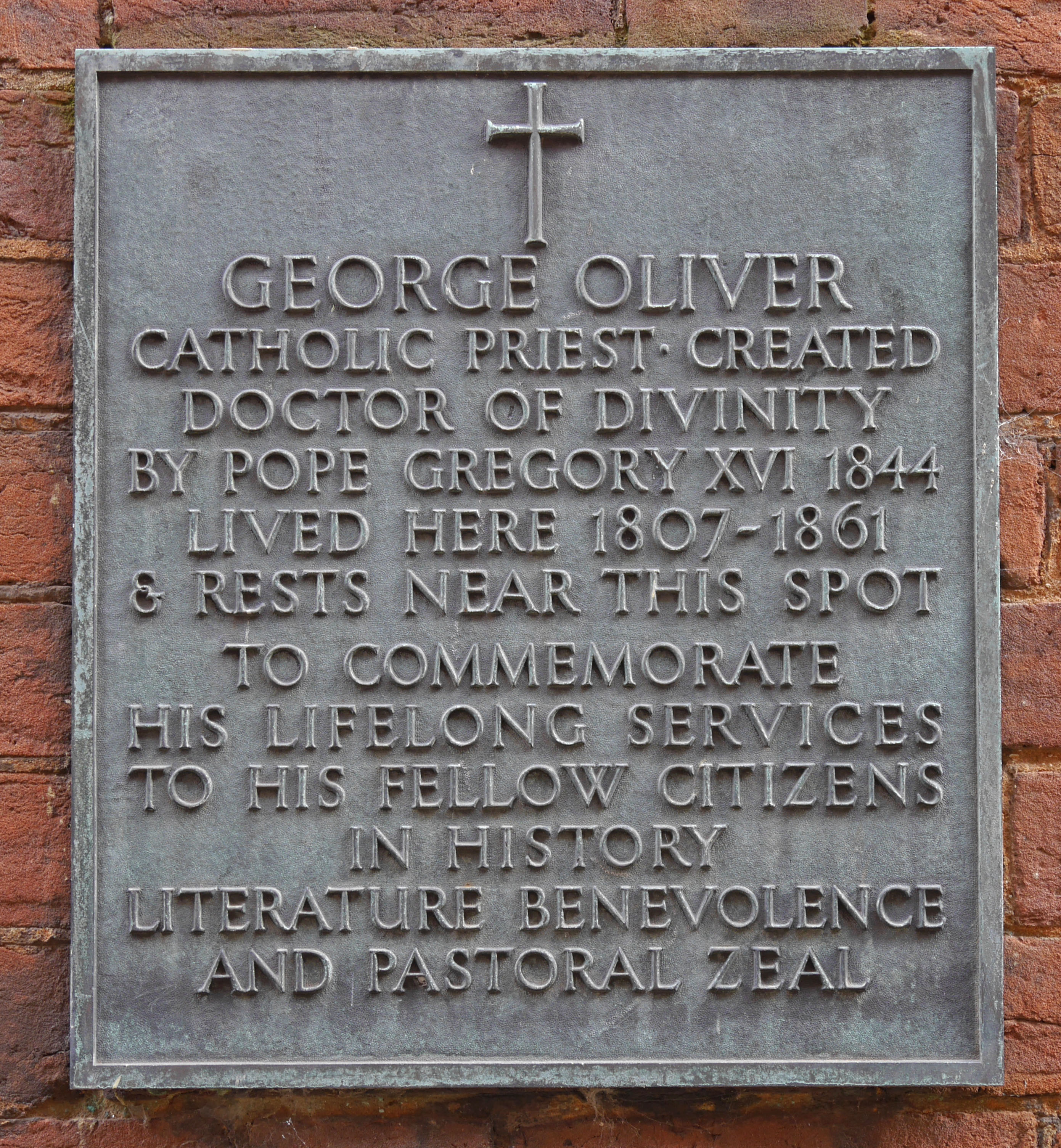 George Oliver | The Mint, Opposite St. Nicholas Priory