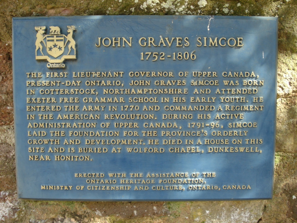 John Graves Simcoe | Cathedral Close